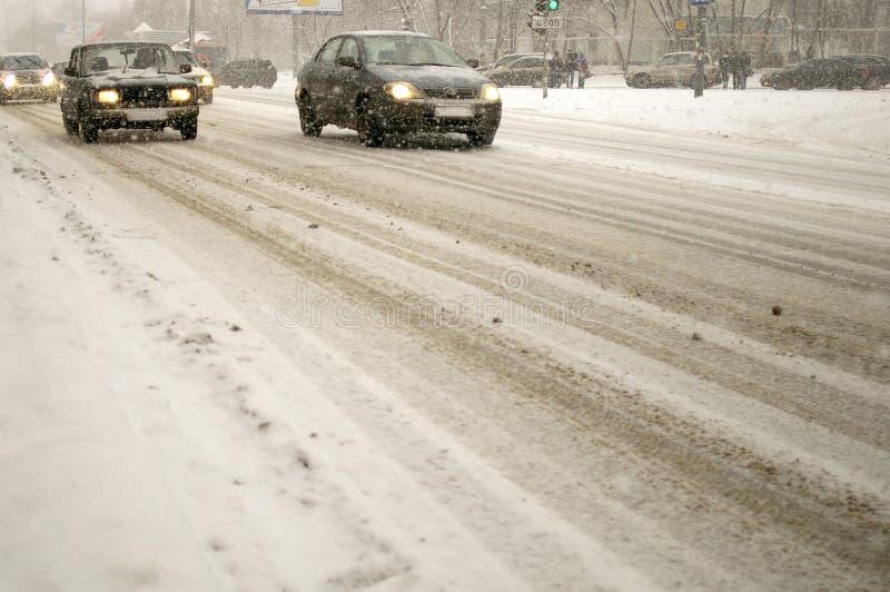 De straat van de winter stock foto's