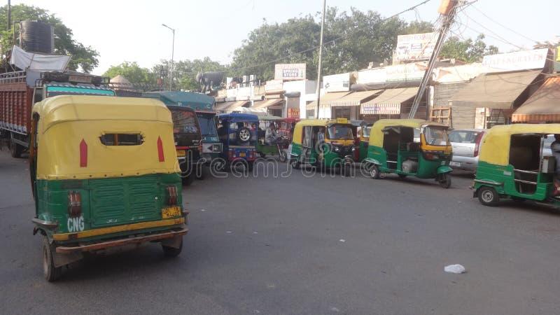 De straat van Delhi royalty-vrije stock fotografie