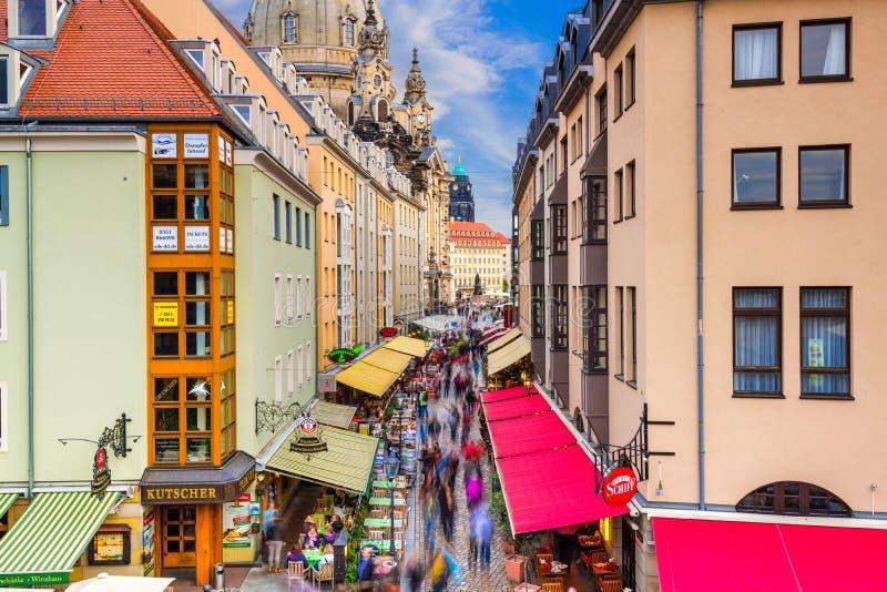 De straat van Dresden stock foto's