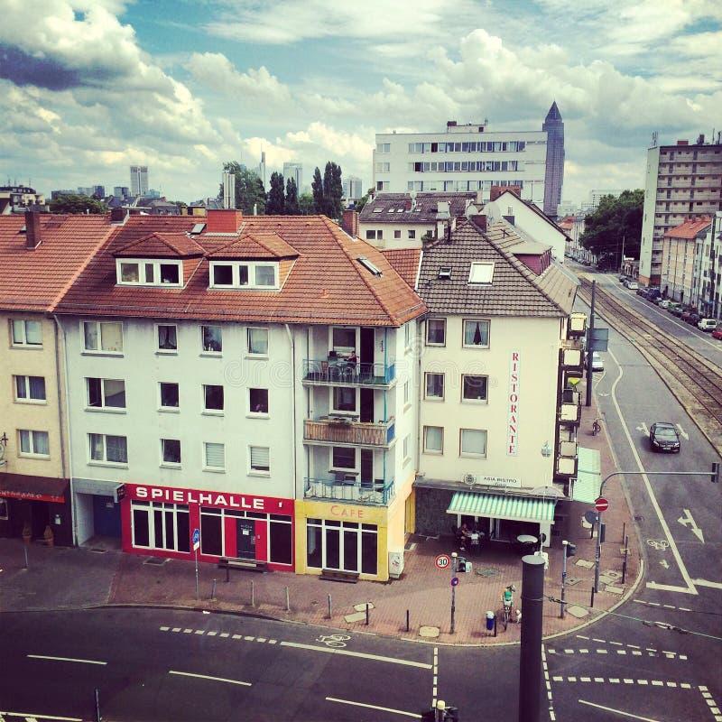 De straat van Frankfurt bockenheim royalty-vrije stock foto