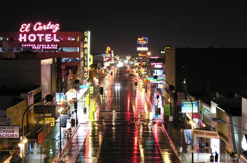 De Straat van Fremont, Las Vegas stock foto's