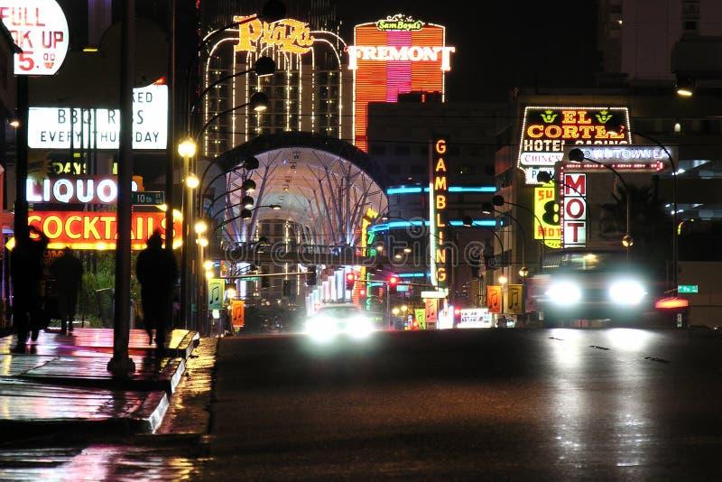 De Straat van Fremont, Nacht Las Vegas royalty-vrije stock afbeelding