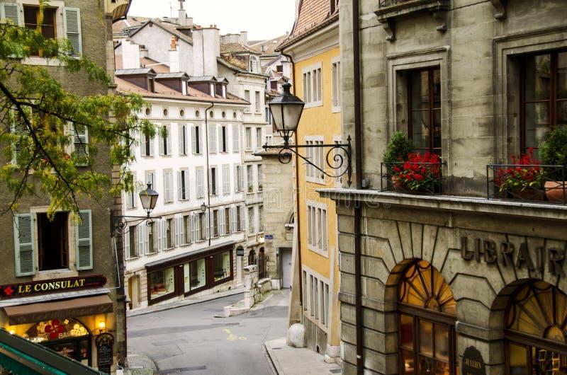 De straat van Genève royalty-vrije stock afbeeldingen