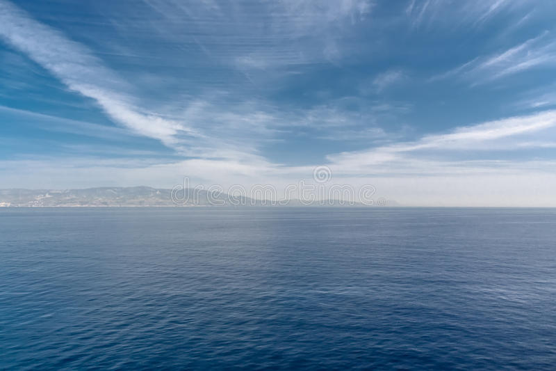 De Straat van Gibraltar Zeegezicht royalty-vrije stock foto's