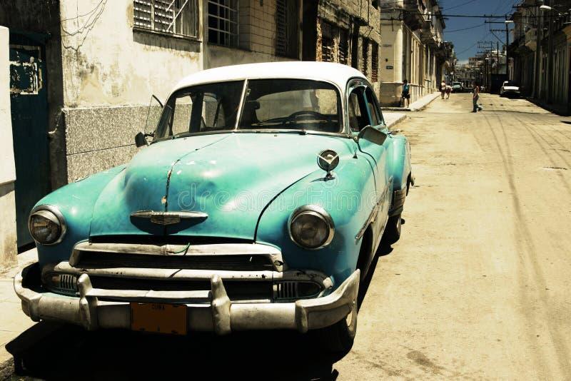 De straat van Havana - dwarsproces stock afbeelding