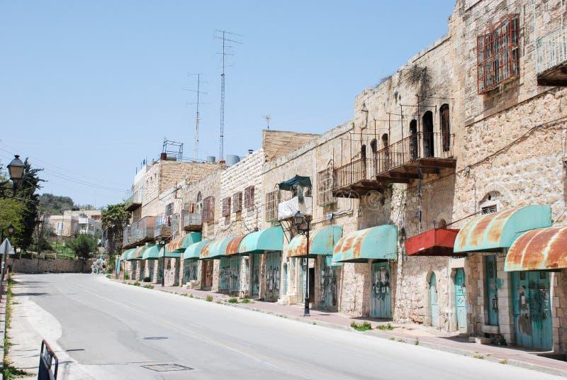 De straat van Hebron royalty-vrije stock foto