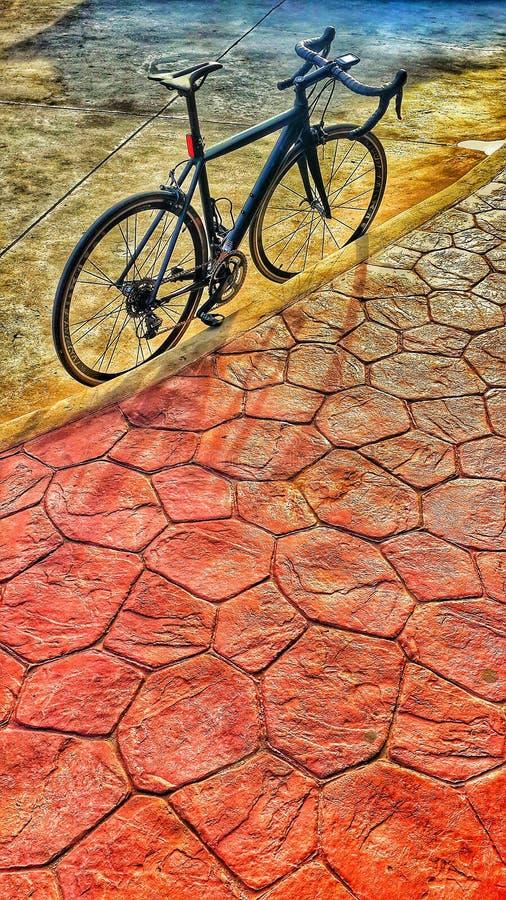 De straat van het fietsparkeren royalty-vrije stock foto's