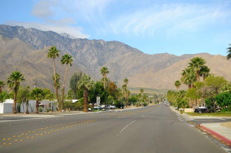 De straat van het Palm Springs stock foto