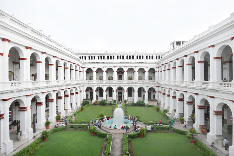 Indisch Museum van Kolkata, India stock foto