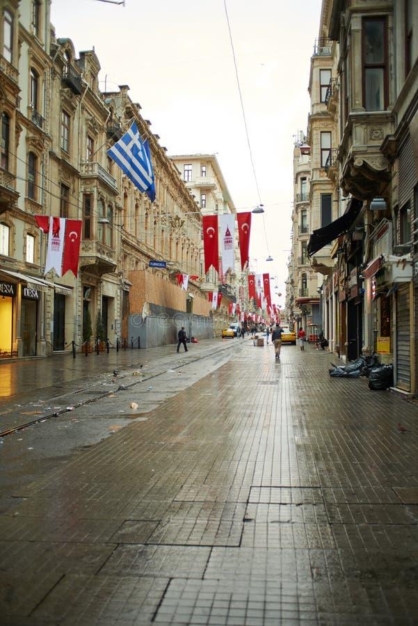 De Straat van Istiklal van Taksim royalty-vrije stock afbeelding
