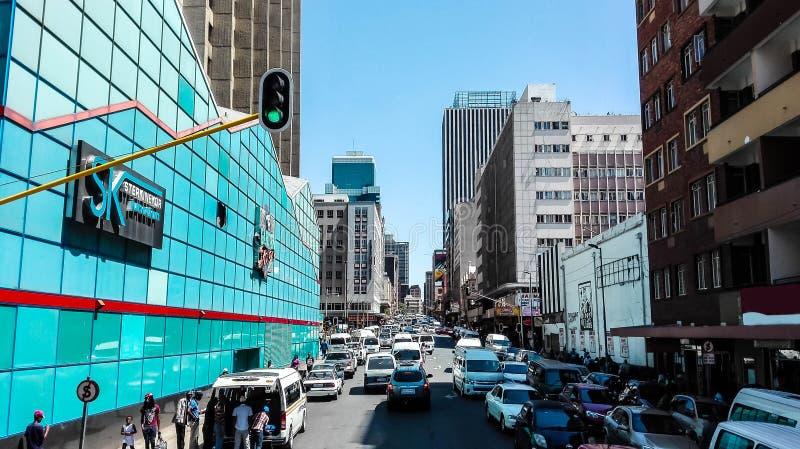 De Straat van Johannesburg stock fotografie