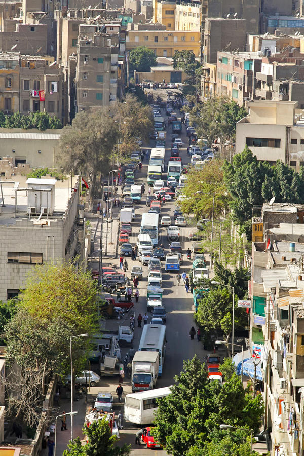 De straat van Kaïro royalty-vrije stock fotografie
