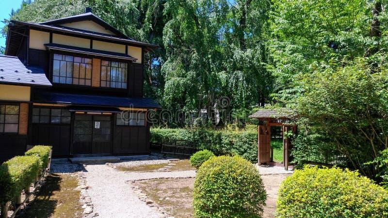 De Straat van Kakunodatebukeyashiki Kakunodate is beroemd door Bukeyashiki (samoeraienwoonplaatsen) royalty-vrije stock afbeelding