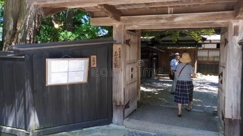 De Straat van Kakunodatebukeyashiki Kakunodate is beroemd door Bukeyashiki (samoeraienwoonplaatsen) royalty-vrije stock fotografie