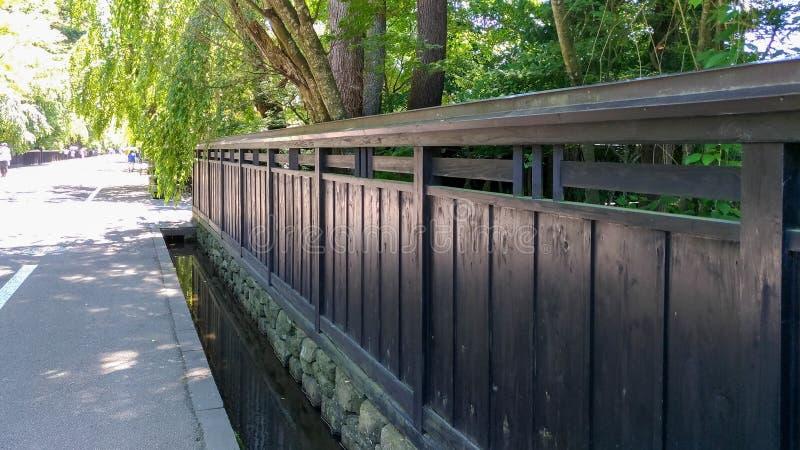 De Straat van Kakunodatebukeyashiki Kakunodate is beroemd door Bukeyashiki (samoeraienwoonplaatsen) royalty-vrije stock foto