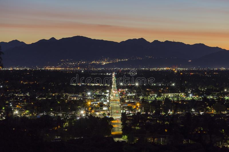 De Straat van Los Angeles Devonshire van het Predawnweergeven stock afbeeldingen