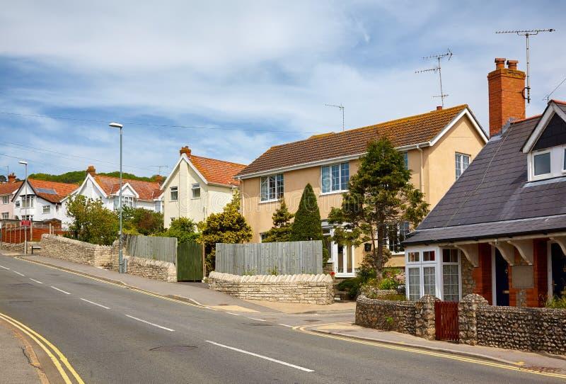 De straat van Lyme REGIS West-Dorset engeland stock afbeeldingen