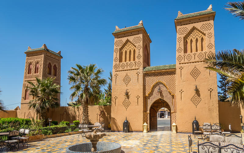 In de straat van Midelt in Marokko royalty-vrije stock foto