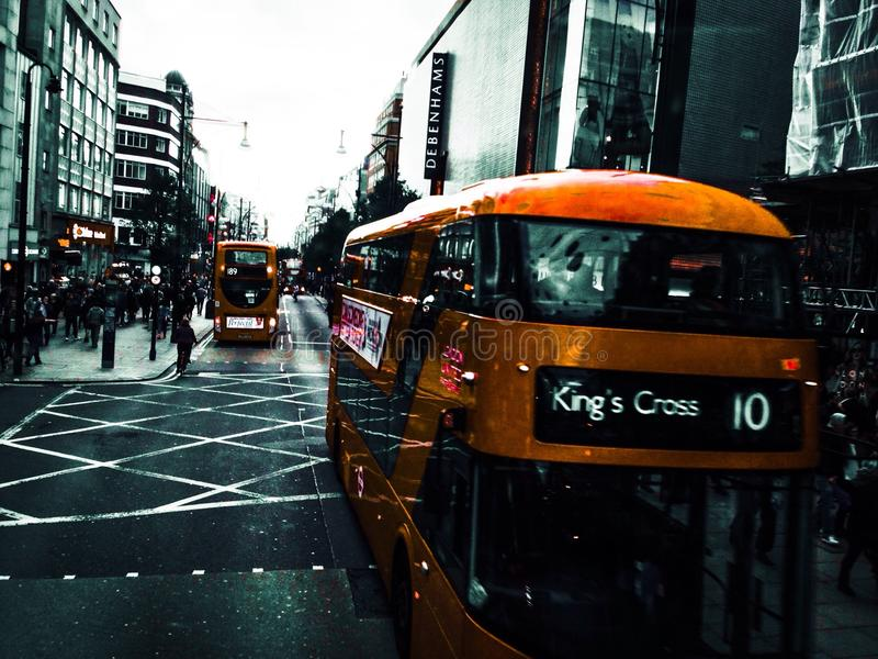 De straat van Oxford, Londen, het UK royalty-vrije stock foto