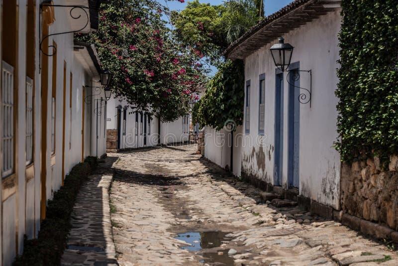 De straat van Paraty stock foto