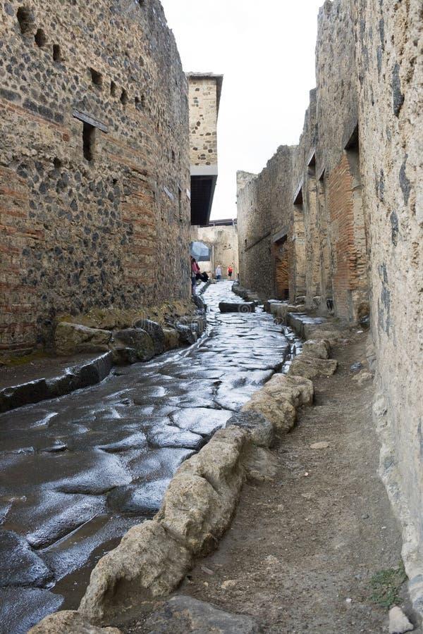 De straat van Pompei stock foto's