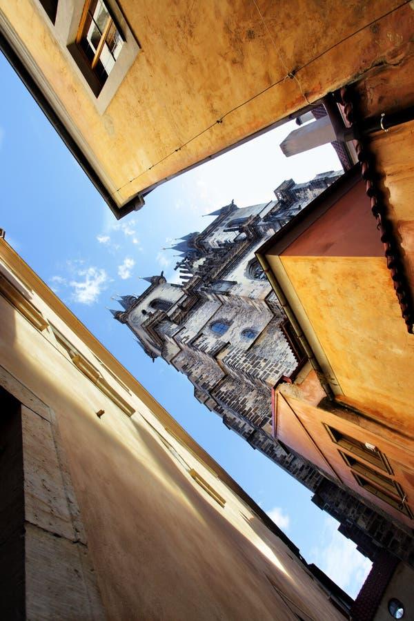 De straat van Praag stock afbeelding