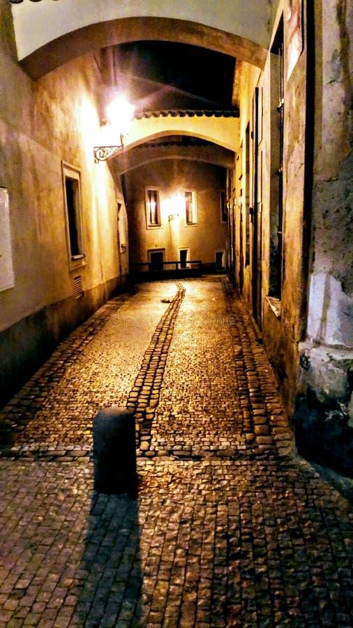 De straat van Praag Pruchodni stock afbeeldingen