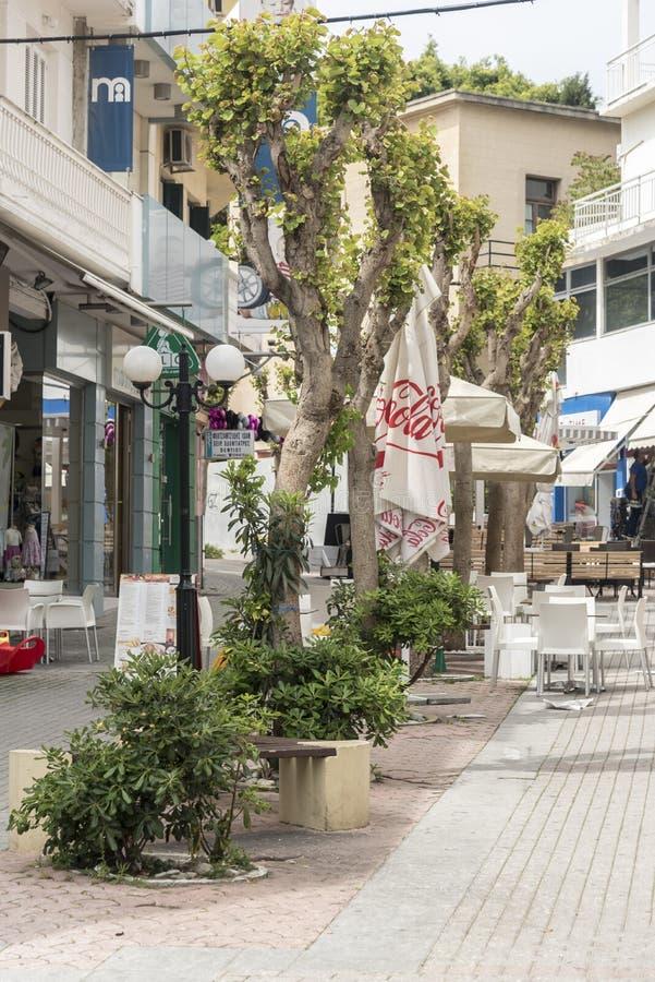 De straat van Rhodos royalty-vrije stock foto