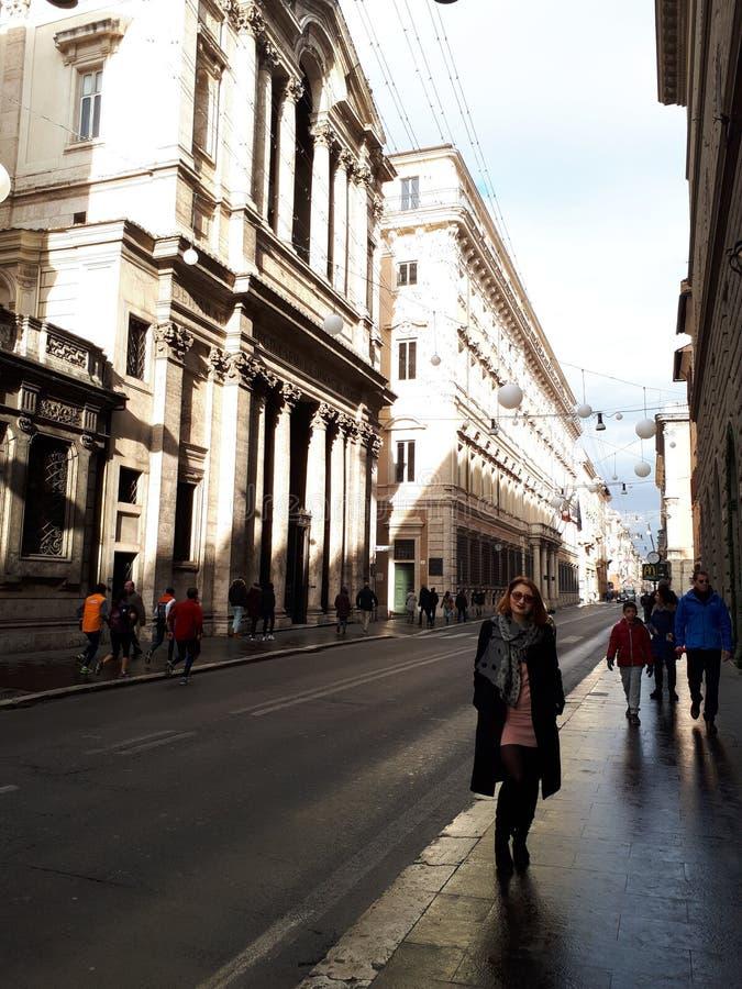 De straat van Rome stock foto's