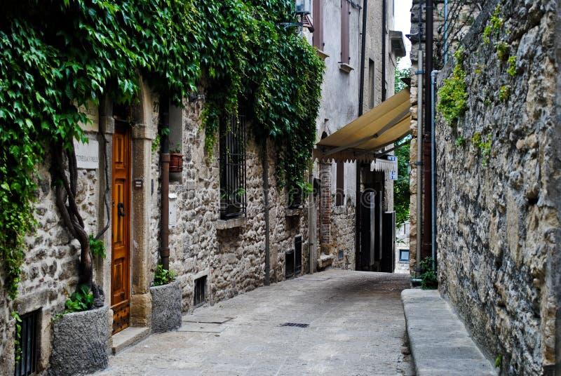 De straat van San Marino stock afbeeldingen