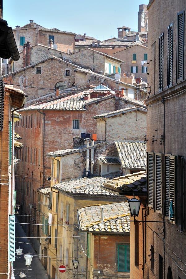 De straat van Siena royalty-vrije stock foto