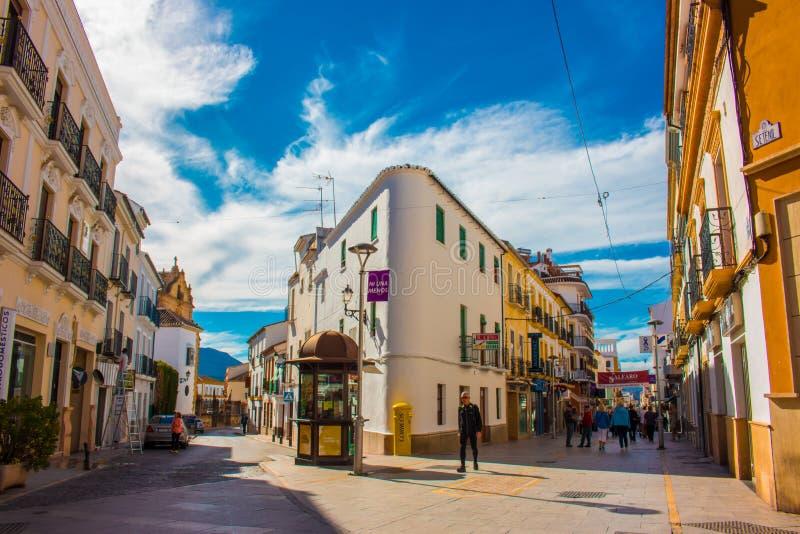 De straat van de stad van Ronda stock afbeelding