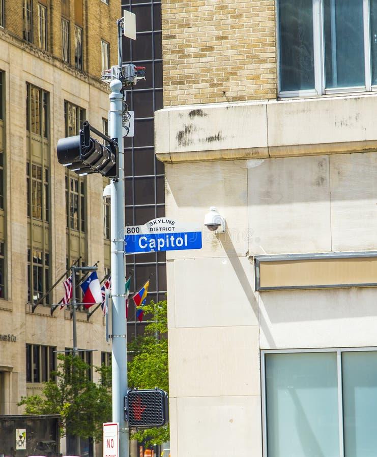 De Straat Van Streetsigncapitol Stock Afbeelding
