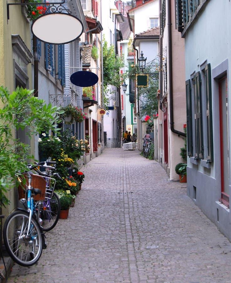 De straat van Zürich stock foto's