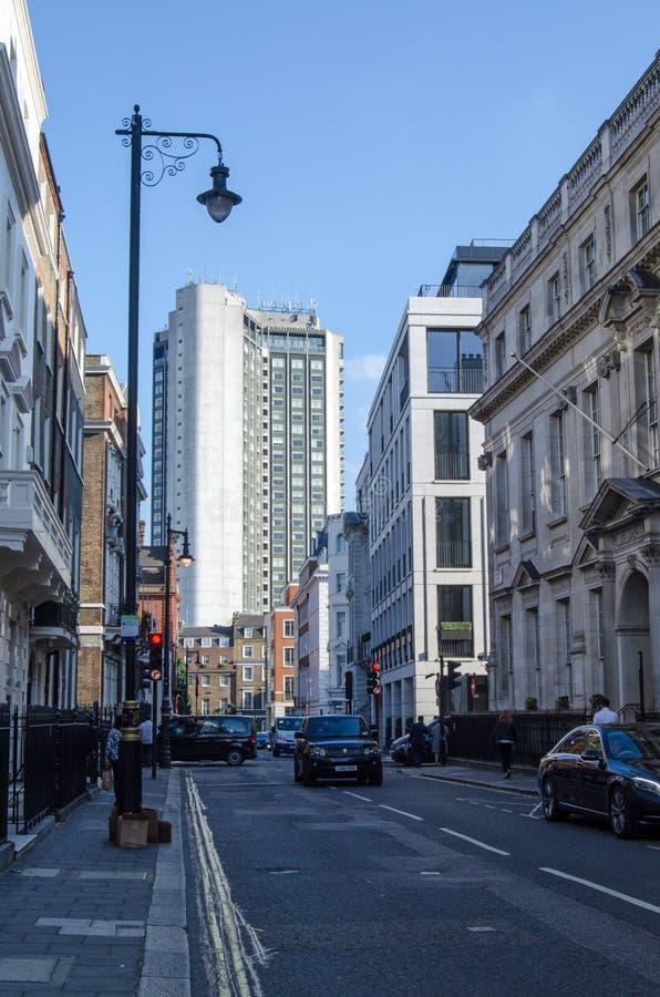 De Straat van zuidenaudley, Mayfair, Londen royalty-vrije stock afbeeldingen