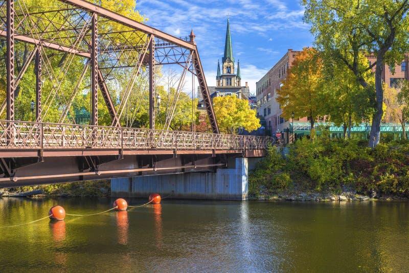 De straatbrug van Merriam, de herfst royalty-vrije stock foto