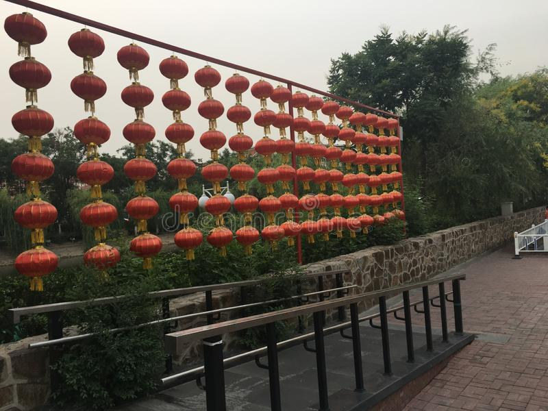 De Straatlantaarn van CHINA stock foto