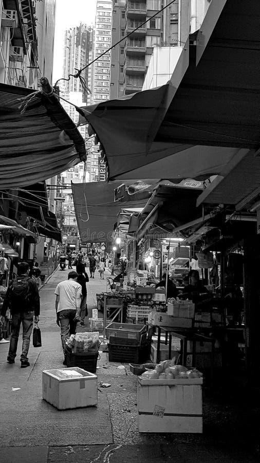 de straatmarkt van Hongkong royalty-vrije stock foto's