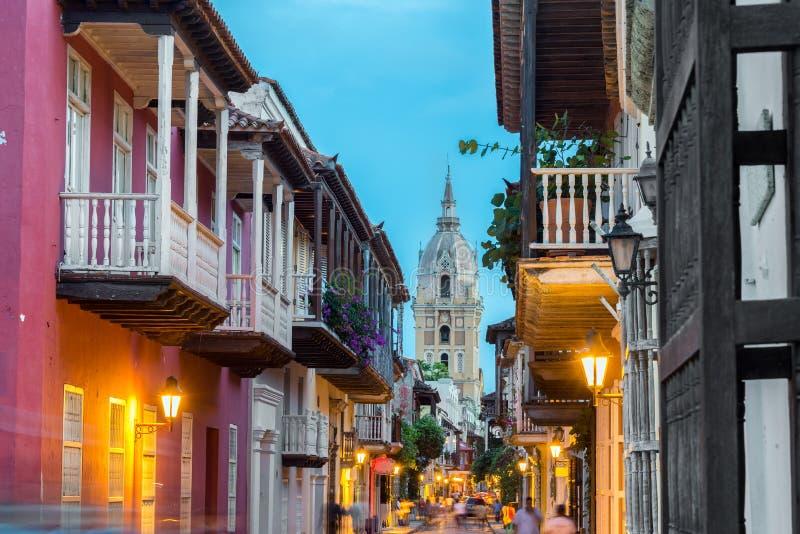 De Straatmening van Cartagena stock fotografie
