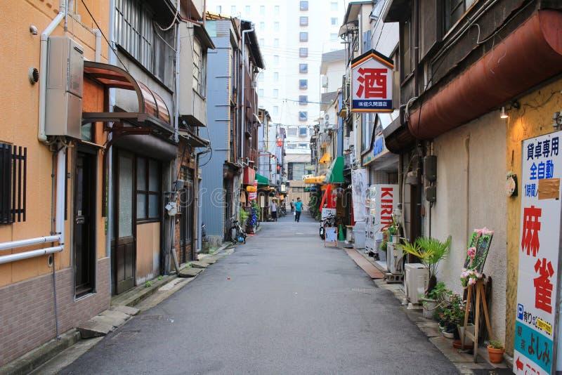 de straatmening van Hiroshima stock fotografie
