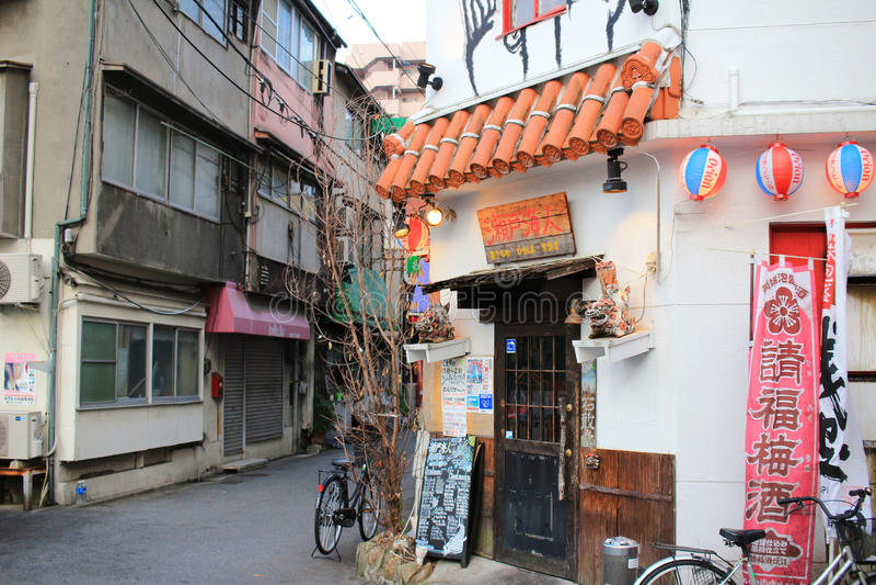 de straatmening van Hiroshima stock foto's