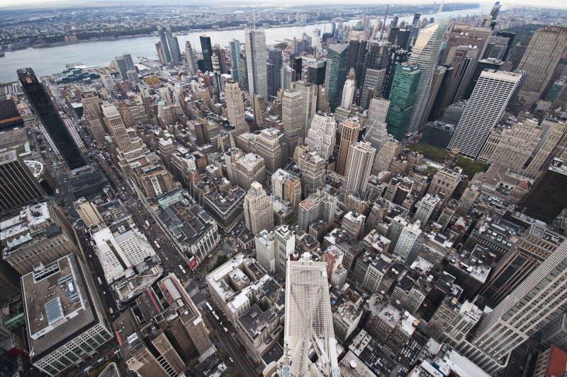 De straatmening van Manhattan van Empire State Building in de Stad van New York royalty-vrije stock foto's
