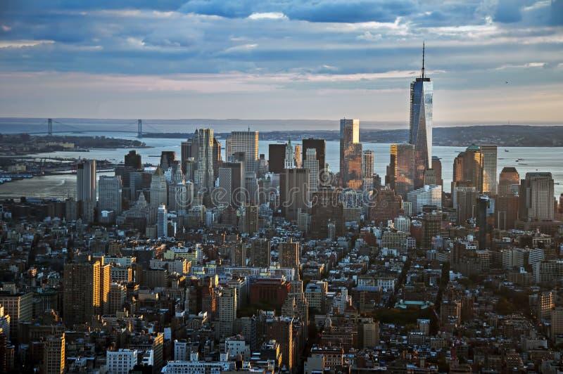 De straatmening van Manhattan van Empire State Building in de Stad van New York royalty-vrije stock afbeelding