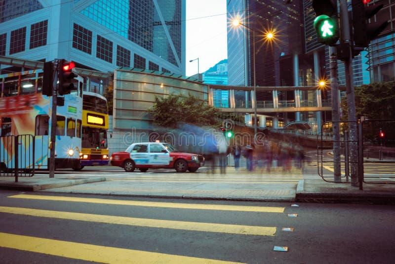 De straatscène van Hongkong stock fotografie
