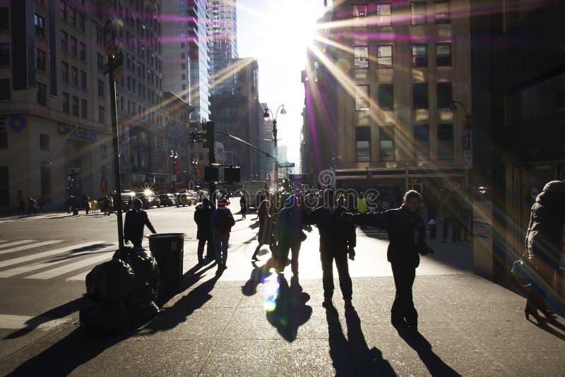 De Straatscène van Manhattan royalty-vrije stock foto's
