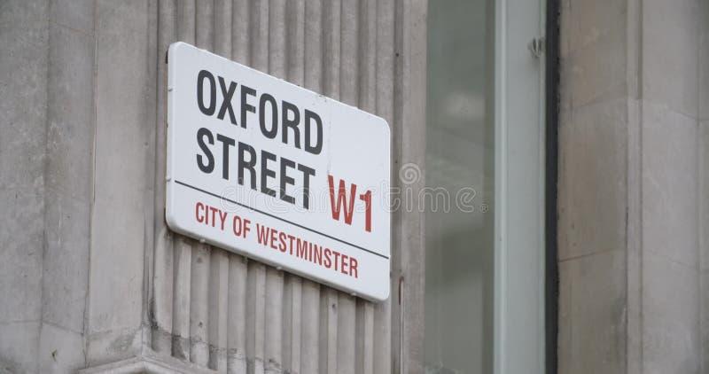 De Straatteken van Oxford stock videobeelden