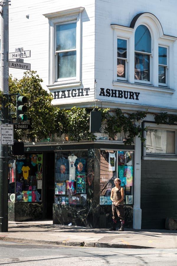 De straatteken van San Francisco Haight Ashbury royalty-vrije stock foto's