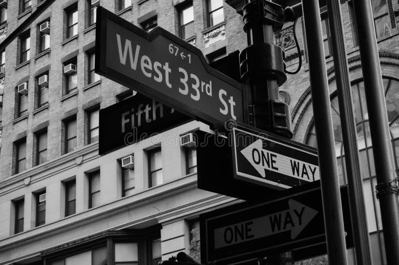 De straattekens van New York stock fotografie