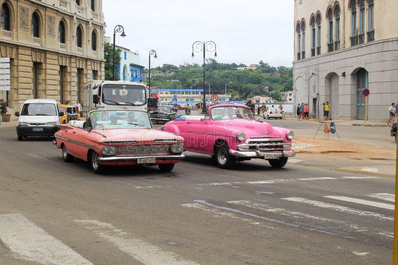 De Straatverkeer van Havana, Cuba royalty-vrije stock afbeeldingen