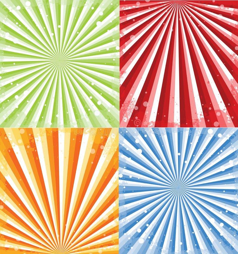 De Stralen van de zon stock illustratie